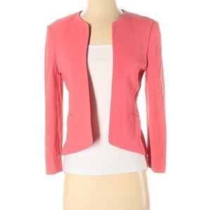Aritzia Wilfred coral pink open blazer